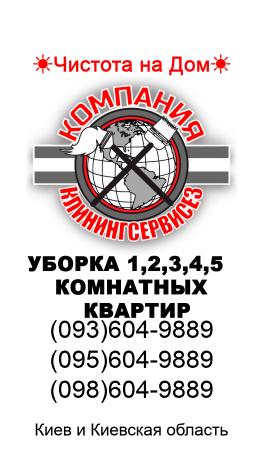 Уборка однокомнатной квартиры в Киеве - КлинингСервисез