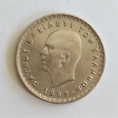 10 драхм 1959 год, Греция (Греція), (Король Павел I)