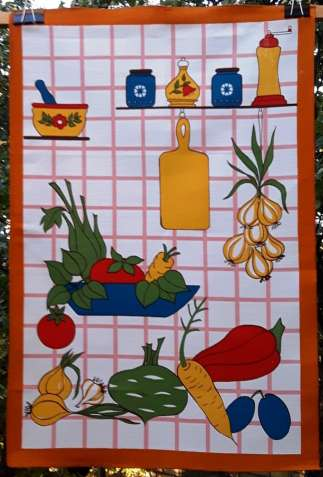 Салфетка /декоративное полотенце для кухни 76х50см. Чехия времен СССР