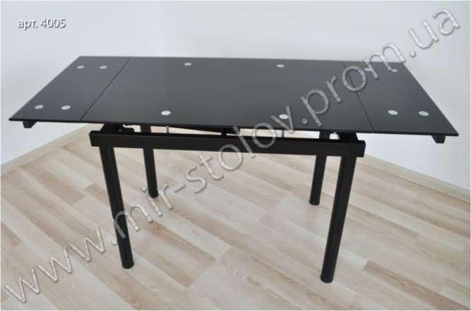 Раскладной стеклянный стол Maxi Dt tr 900/600 черный