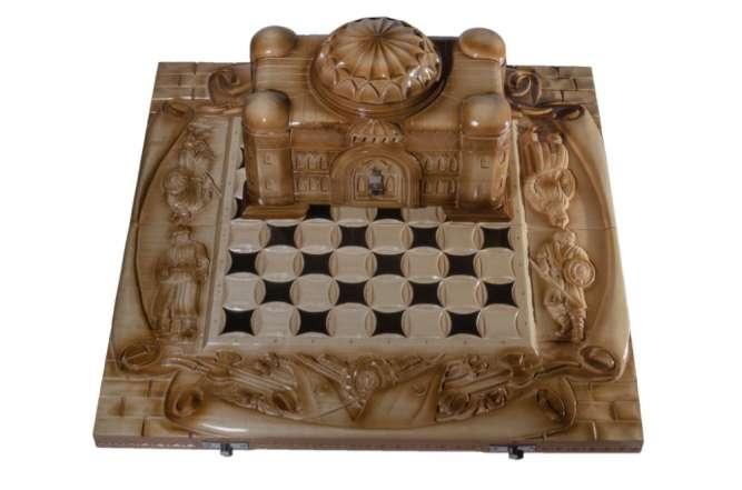 """Шахматы резные """"Тадж-Махал"""" 3 в 1 (шахматы, нарды, шашки)"""