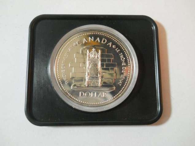 Канада-1 доллар (1977) 'Трон сената Канады. 25 лет коронации Елизаветы