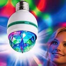 Диско лампа для вечеринок, вращающаяся светодиодная диско-лампа