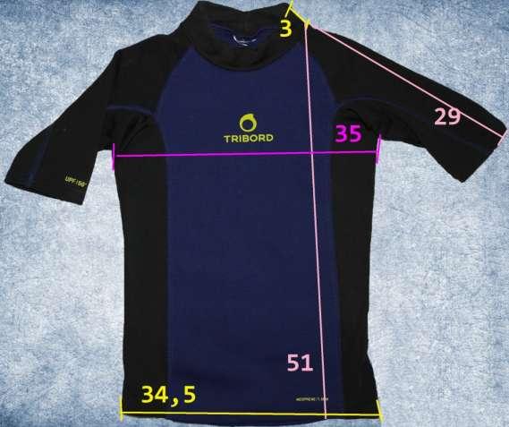 tribord неопреновая футболка сноркелинг плаванье 1,5 мм уф защита коро