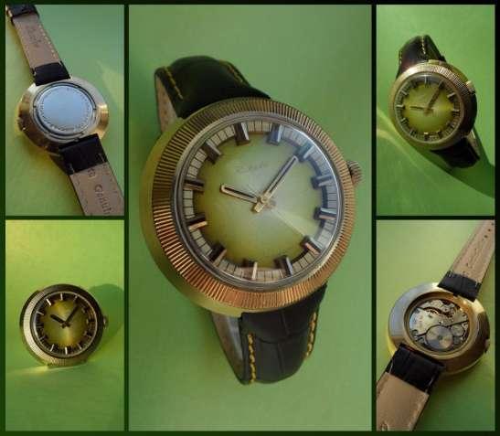 часы РАКЕТА-СТАДИОН-80-х. мужские ЗОЛОЧЕННЫЕ, сделано в ссср, механика
