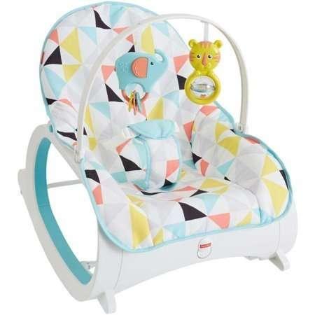 Крісло гойдалка до 18кг кресло качалка с вибрацией Fisher Price шезлон