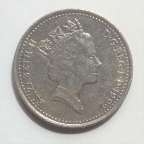 10 пенсов, 1992, Великобритания, Англия