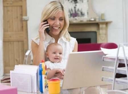 Робота на дому молодим мамам