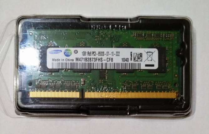 Модуль памяти Samsung SO-DIMM DDR3 1066 mbps 1GB M471B2873FHS-CF8