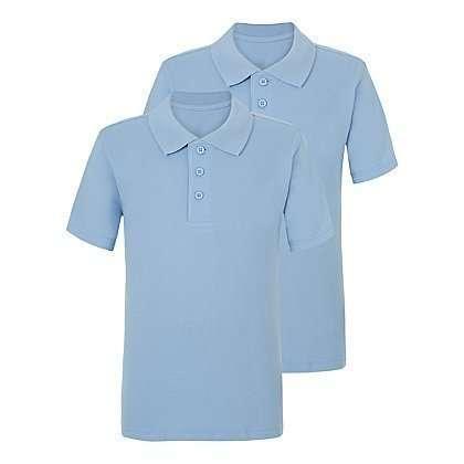Школьная футболка - поло голубая от 6 до 13 лет George. Код 180901