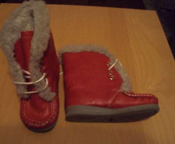 Ботинки детские зимние,кожа,р 16 новые