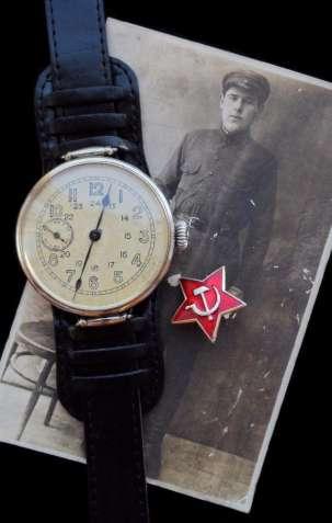 ЧАСЫ ВЕЛИКОЙ ОТЕЧЕСТВЕННОЙ ВОЙНЫ, АУТЕНТИЧНЫЕ, СССР 1938г. механика - изображение 2