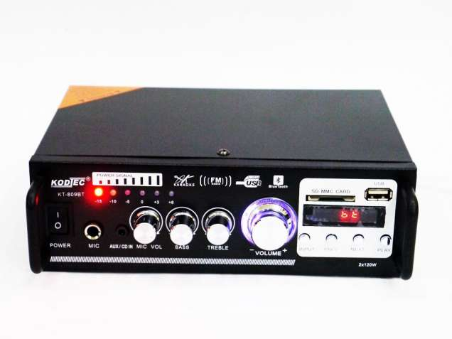 Усилитель звука KT-809BT / AV-306B USB+SD+AUX+Bluetooth+Караоке
