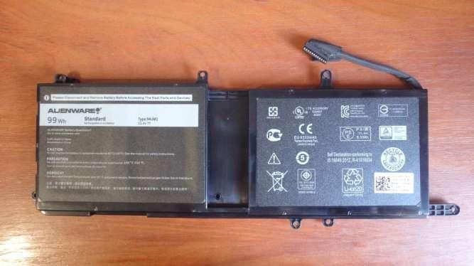 Оригинальный аккумулятор / батарея Dell Alienware 17 R4 9NJM1 99Wh