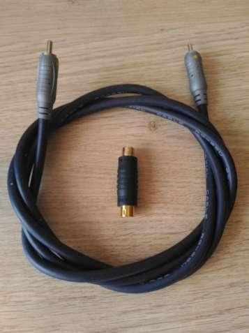 ДЕШЕВО цифровой коаксиальный кабель RCA с позолоченным переходником