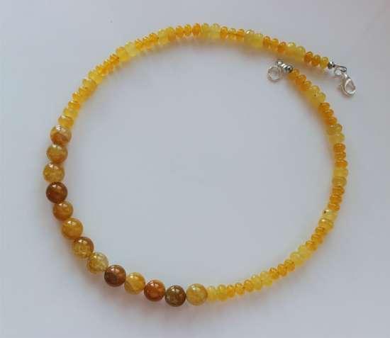 Ожерелье из агата, подарок девушке