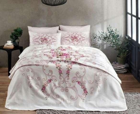 Летнее постельное белье с Пике TAC Yasmin 200×230 ранфорс Турция