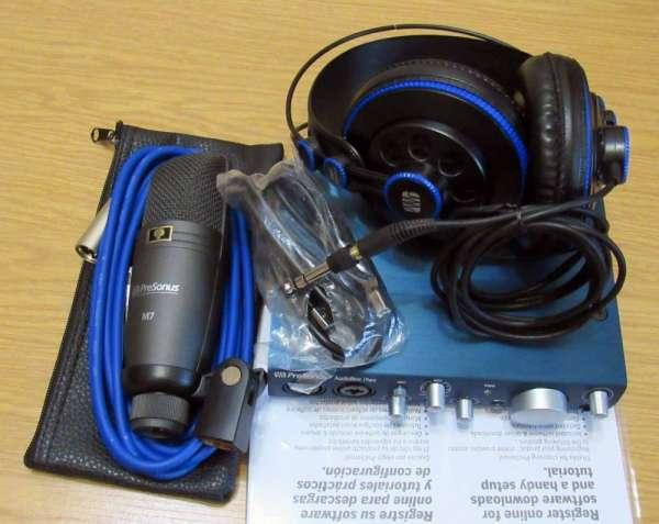 Комплект! Аудио интерфейс PreSonus AudioBox iTwo и микрофон М7 уши HD7