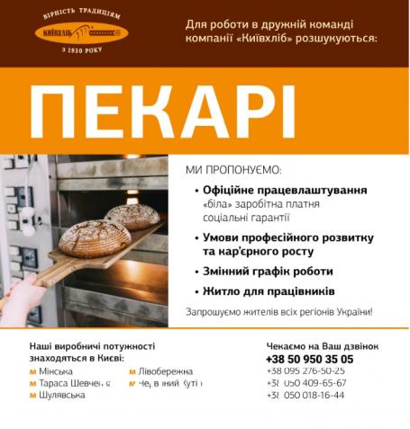 Пекарь, тестомес, формовщик хлебобулочных изделий