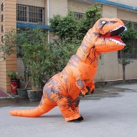 Новый надувной костюм динозавра для взрослого T-REX (Тиранозавр)