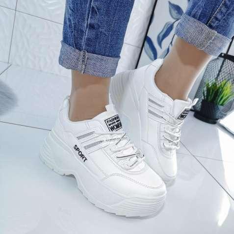 Белые женские кроссовки на платформе, білі кросівки на платформі 36-41