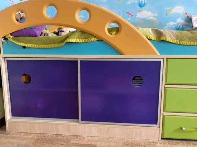 Кровать—чердак детский Городок «Снайт»