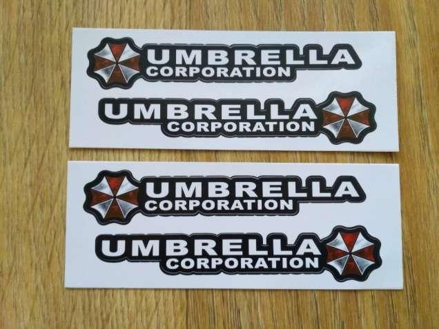 Наклейки на ручки ,дворники авто Umbrella corporation 2 шт