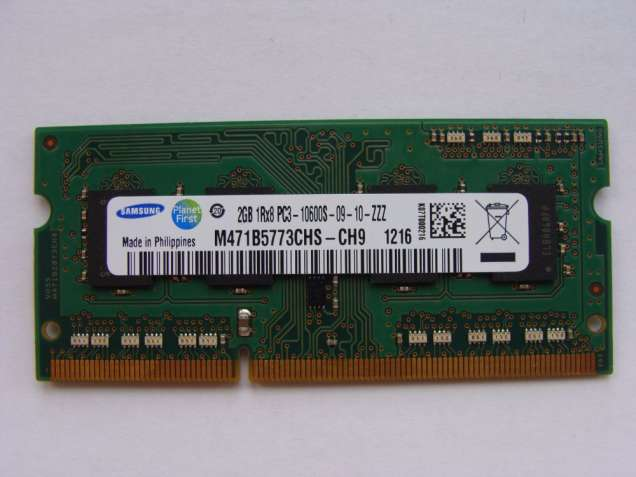 Оперативная память для ноутбука 2Gb  DDR3  SODIMM  1333MHz  Samsung