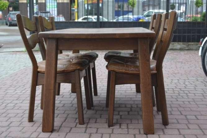 1c6ab938a8359e Легке б/в. Дубовий стіл та 4 стільці З Німеччини Масив Після реставрації