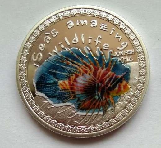 Крылатка, рыба-лев, 5000 франков, 2014, Республика Бурунди