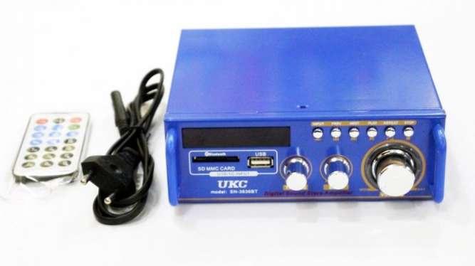 Усилитель UKС SN-3636BT - USB,SD,FM,MP3! 120W+120W 2х канальный