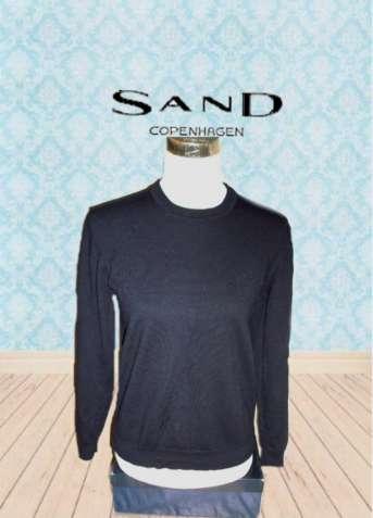 Sand copenhagen 100% мерино Теплый женский свитер т синий  Италия