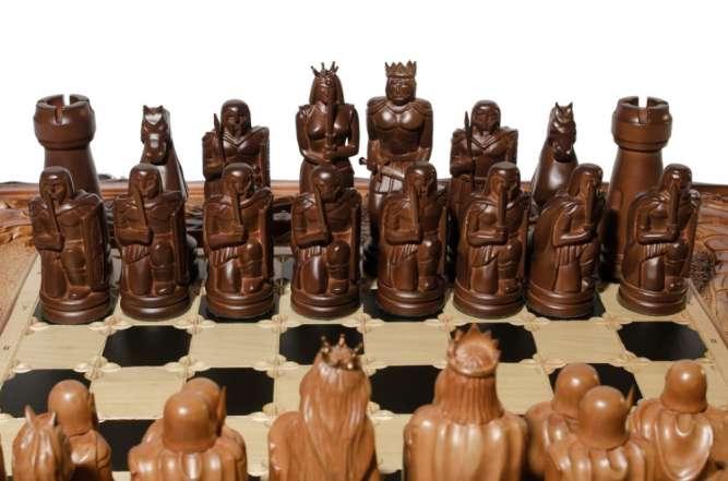 """Шахматный набор """"Битва рыцарей"""" 3 в 1 (шахматы, нарды, шашки)"""