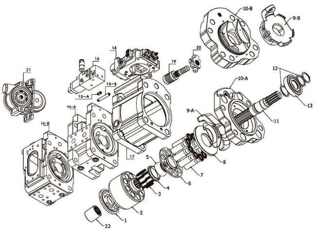 Ремонт гидронасосов и гидромоторов kawasaki К5V160DT