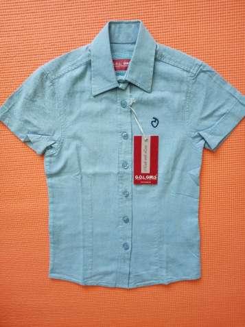 Летняя джинсовая рубашка на девочку GOL Girls Германия