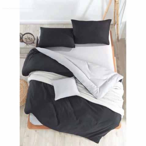 Постельное белье Eponj Home Paint - Mix Siyah-K.Gri ранфорс евро