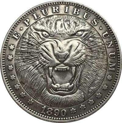 Тигр, Хобо Никель (Hobo Nickel) 1 доллар, 1890, США