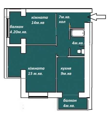 2 комнатная Срочно !!!