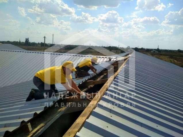 Замена перекрытие ремонт кровли крыш на складе ангаре кровельные работ