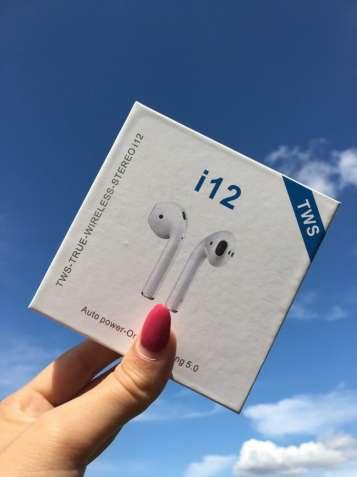 Бездротові навушники AirPods i12 TWS Bluetooth з анімацією