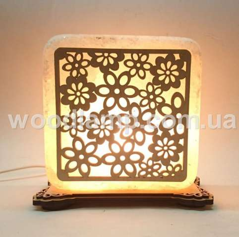 Соляной светильник квадратный Васильки,лампа,ночник