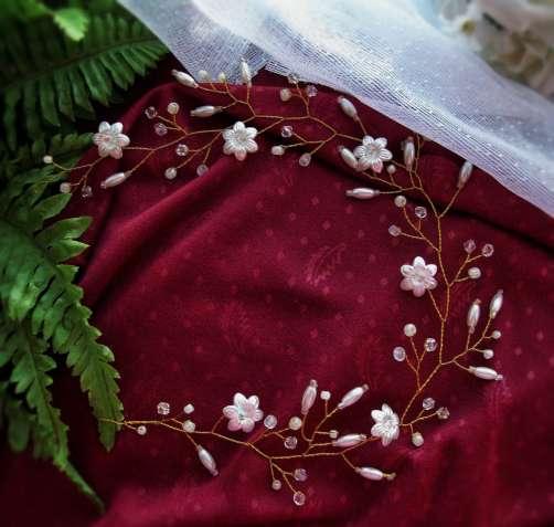 Веточка для свадебной праздничной прически