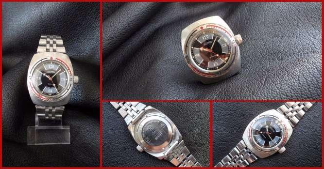 100% ориг., часы «ВОСТОК-АМФИБИЯ-2209» сделано в СССР 80-х. нержавейка