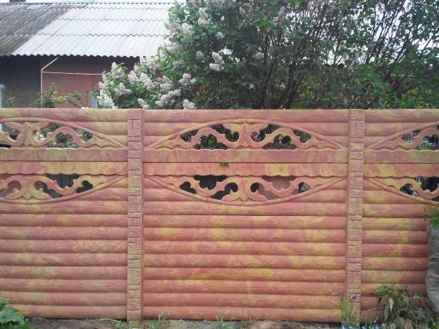Забор бетонный секционный, еврозабор