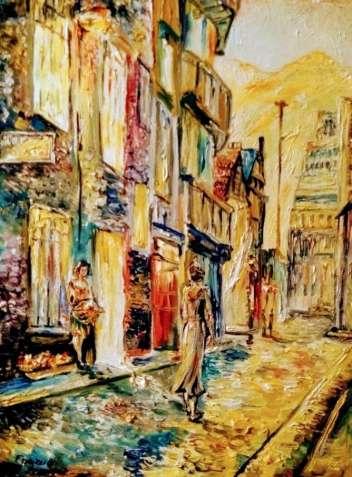 "Картина ""Оксфорд"" маслом прогулка по Оксфорду холст подарок"