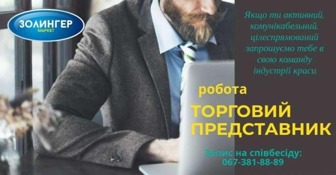 Менеджер по продажах / Торговий представник з автомобілем
