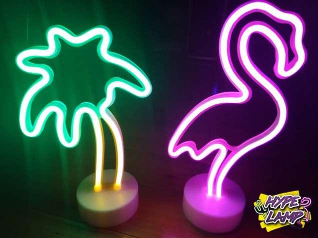 Неоновые светильники USB настольные(фламинго, пальма, ананас, кактус..