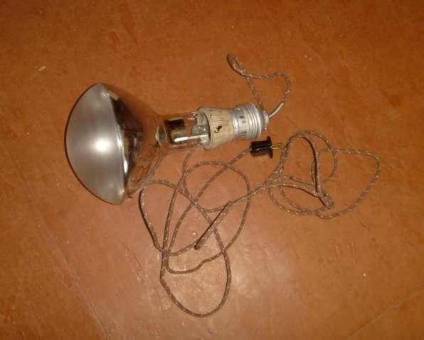 Лампа накаливания зеркальная 500Вт 220в с патроном и шнуром