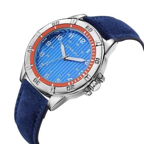 Часы наручные мужские CRRJU Blue M157