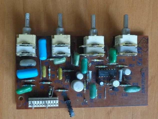 Плата блока коррекции регулировки магнитофона Весна 212 (А7) Тембробло